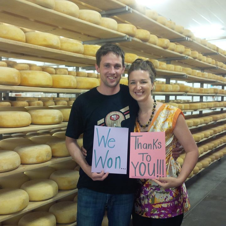 Shep and Colleen Ysselstein of Gunn's Hill Artisan Cheese near Woodstock, Ontario.