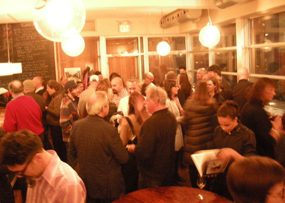 Official launch party at Gilead Café & Wine Bar last night.