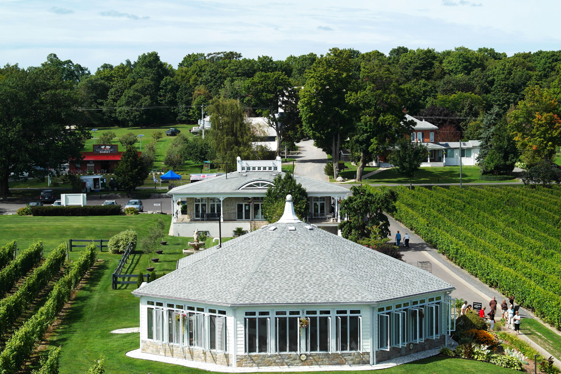 Gazebo Restaurant at Waupoos Estates Winery in Prince Edward County.
