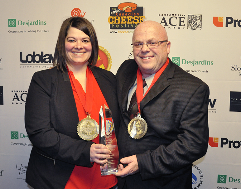 Happy winners: Andrea White and Armand Bertrand of Cows Creamery.