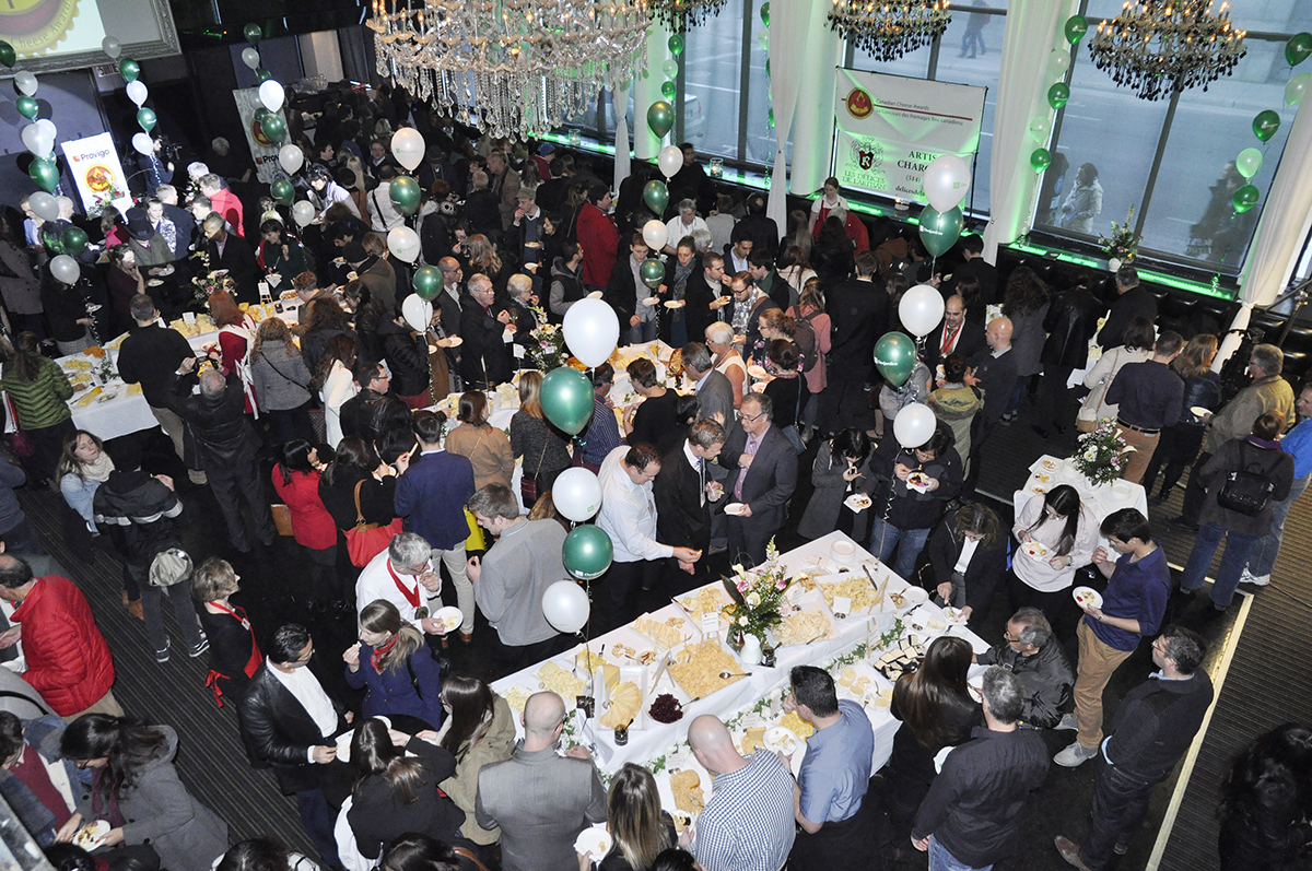 Awards Tasting Gala at Time Supper Club in Montréal drew 460 fans of Canadian cheese.